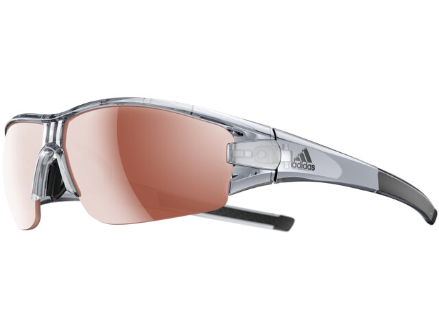 adidas Evil Eye Halfrim Glasses grey transparent shiny/lst